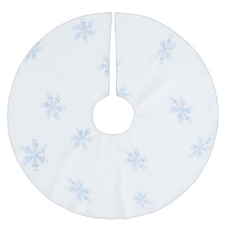Snowflakes Brushed Polyester Tree Skirt