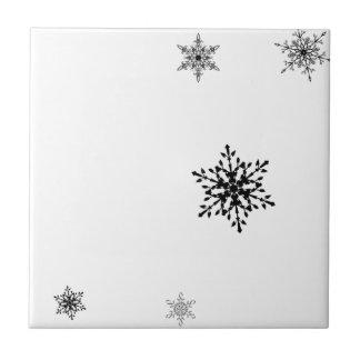 Snowflakes Ceramic Tile