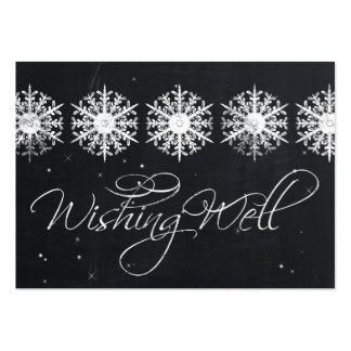 snowflakes chalkboard winter  wishing well cards pack of chubby business cards