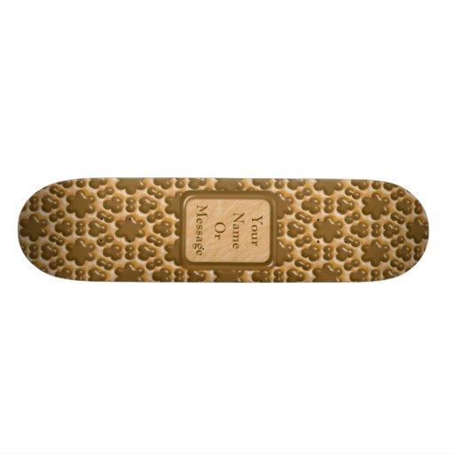 Snowflakes - Chocolate Peanut Butter Custom Skate Board