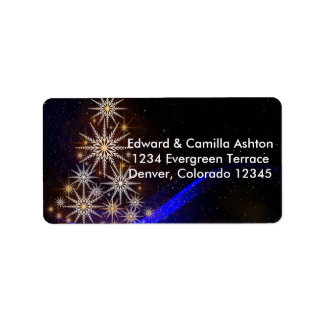 Snowflakes Christmas Address Label Customisable