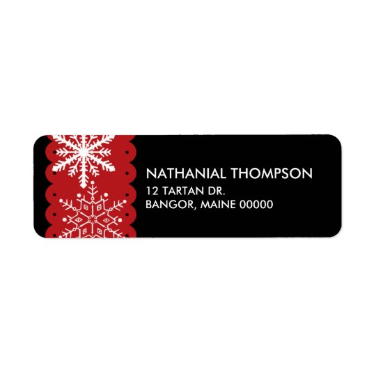 Snowflakes Christmas Address Labels