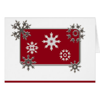 Snowflakes Christmas Card