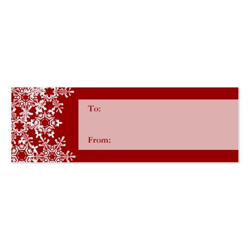Snowflakes Christmas Gift Tag Business Card