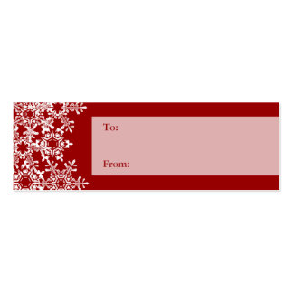 Snowflakes Christmas Gift Tag Pack Of Skinny Business Cards