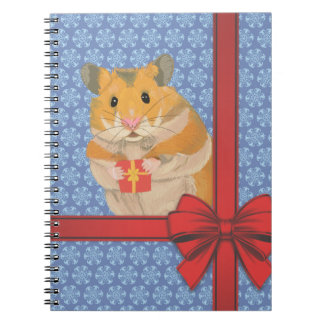 Snowflakes Christmas Hamster Notebooks