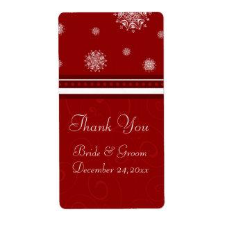 Snowflakes Christmas Wedding Labels