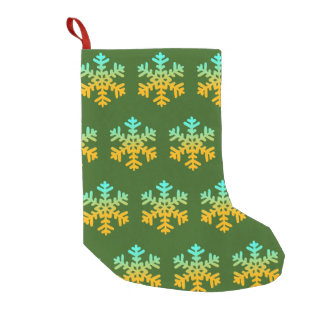 Snowflakes Custom Christmas Stocking