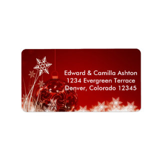 Snowflakes Customisable Christmas Address Label