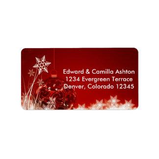 Snowflakes Customisable Christmas Address Label