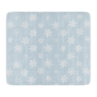 Snowflakes Cutting Board