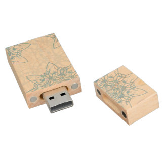 Snowflakes Fall Wood USB 2.0 Flash Drive
