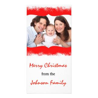 Snowflakes Family Long Photocard Customized Photo Card