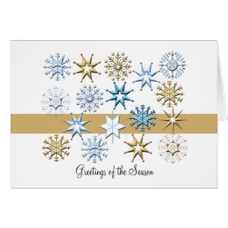 Snowflakes Folded - Holiday Card