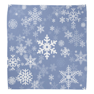 Snowflakes Graphic Customize Color Background on a Bandana