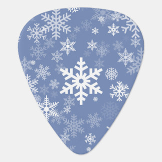 Snowflakes Graphic Customize Color Background on a Guitar Pick