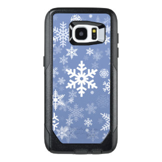 Snowflakes Graphic Customize Color Background on a OtterBox Samsung Galaxy S7 Edge Case