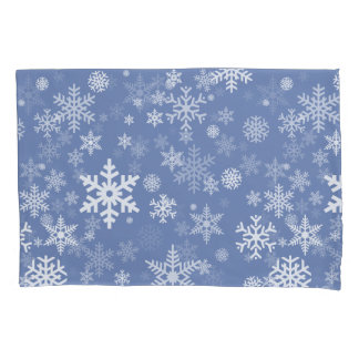 Snowflakes Graphic Customize Color Background on a Pillowcase