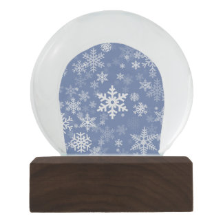 Snowflakes Graphic Customize Color Background on a Snow Globes