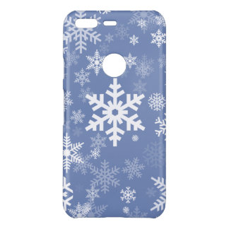 Snowflakes Graphic Customize Color Background on a Uncommon Google Pixel Case