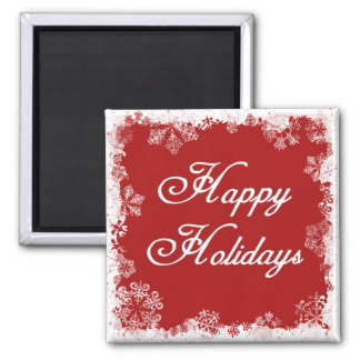 Snowflakes Happy Holidays Magnet