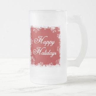 Snowflakes Happy Holidays Mug