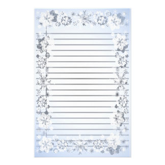 Snowflakes Heavy Lined Writing Paper