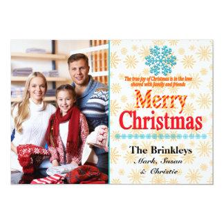 Snowflakes Holiday Photo Card 13 Cm X 18 Cm Invitation Card