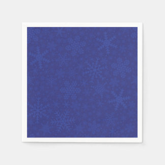 Snowflakes in Blue | Holiday Napkins Disposable Napkins