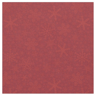 Snowflakes in Red | Holiday Fabric