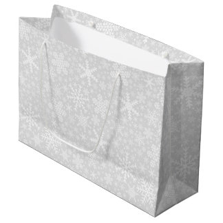Snowflakes in Silver | Holiday Gift Bag