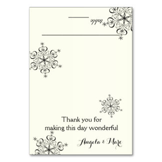 Snowflakes Ivory Seating Card