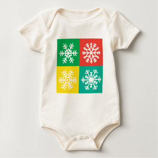 Snowflakes -  jewels baby bodysuit