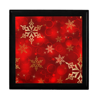 Snowflakes Large Square Gift Box
