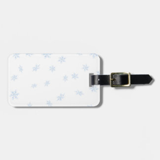Snowflakes Luggage Tag