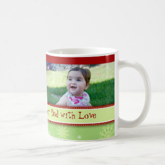 Snowflakes Merry Christmas Dad Mug