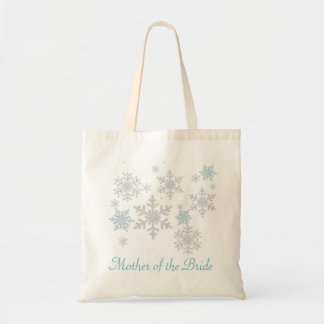 Snowflakes Mother of the Bride Tote Bag