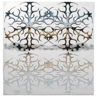 snowflakes napkin