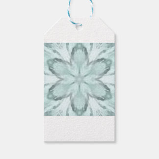 Snowflakes of blue gift tags