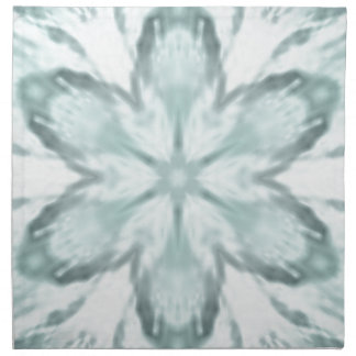 Snowflakes of blue napkin
