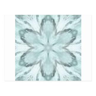 Snowflakes of blue postcard