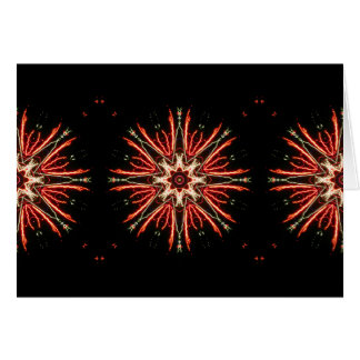 Snowflakes of Fire Holiday Card