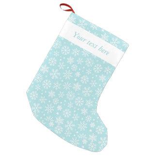 Snowflakes on Blue Christmas Stocking