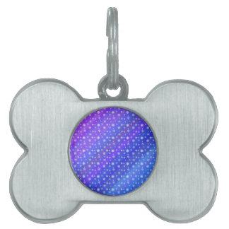 Snowflakes on Blue Pet Tag