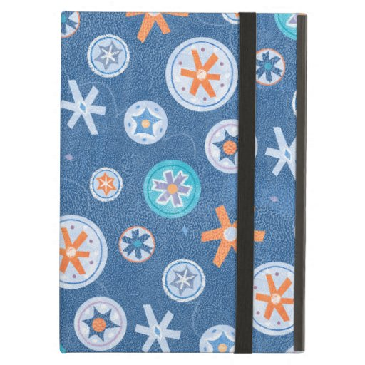 Snowflakes on Blue Winter Christmas Holiday Snow iPad Air Cases