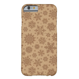 Snowflakes on Cardboard Pattern Barely There iPhone 6 Case