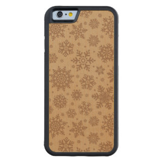 Snowflakes on Cardboard Pattern Maple iPhone 6 Bumper