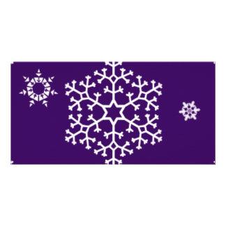 snowflakes_on_dark_purple picture card