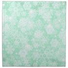 Snowflakes on Green Napkin