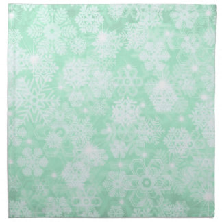 Snowflakes on Green Napkin